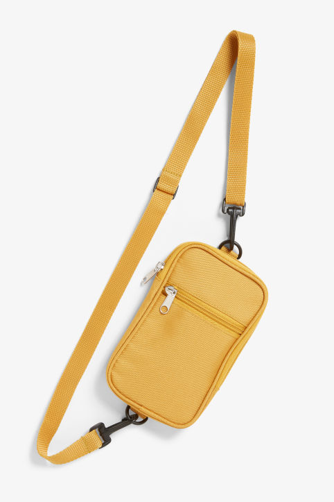 Front image of Monki utility style bag in yellow