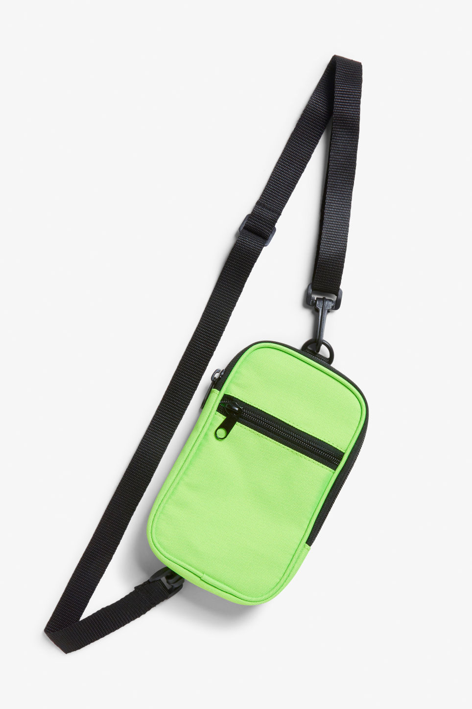 Front image of Monki utility style bag in green