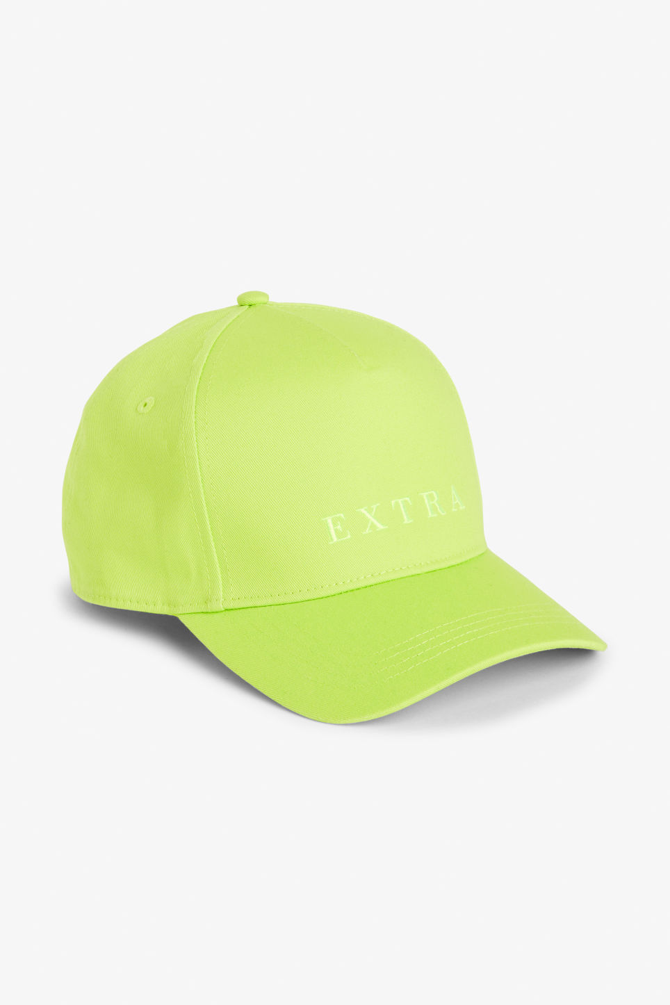 Front image of Monki baseball cap in yellow