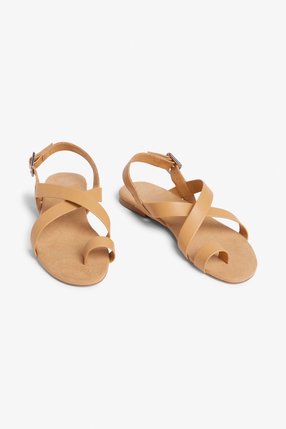 Cross over strap sandals Dusty yellow Shoes Monki