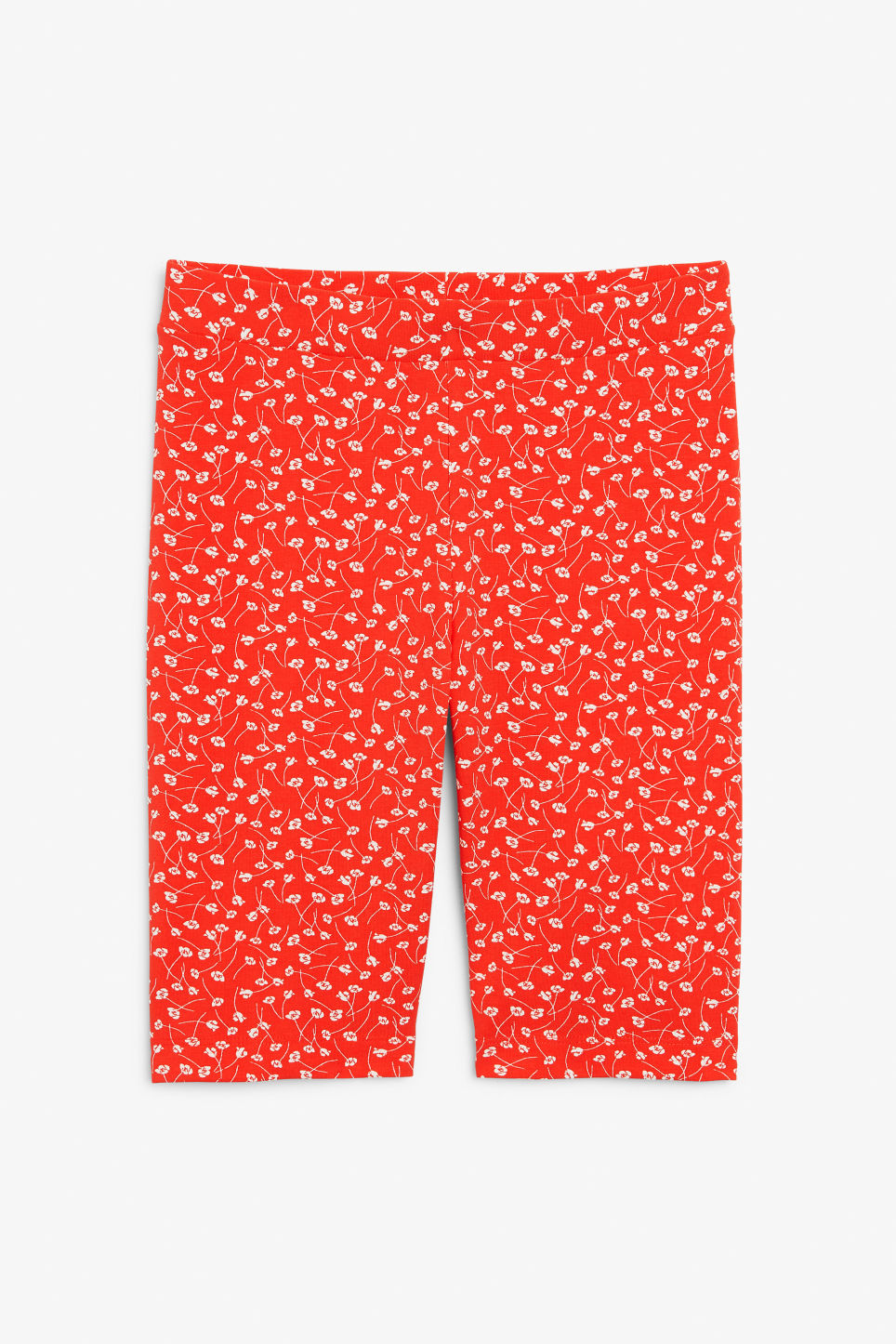 Front image of Monki short leggings in red