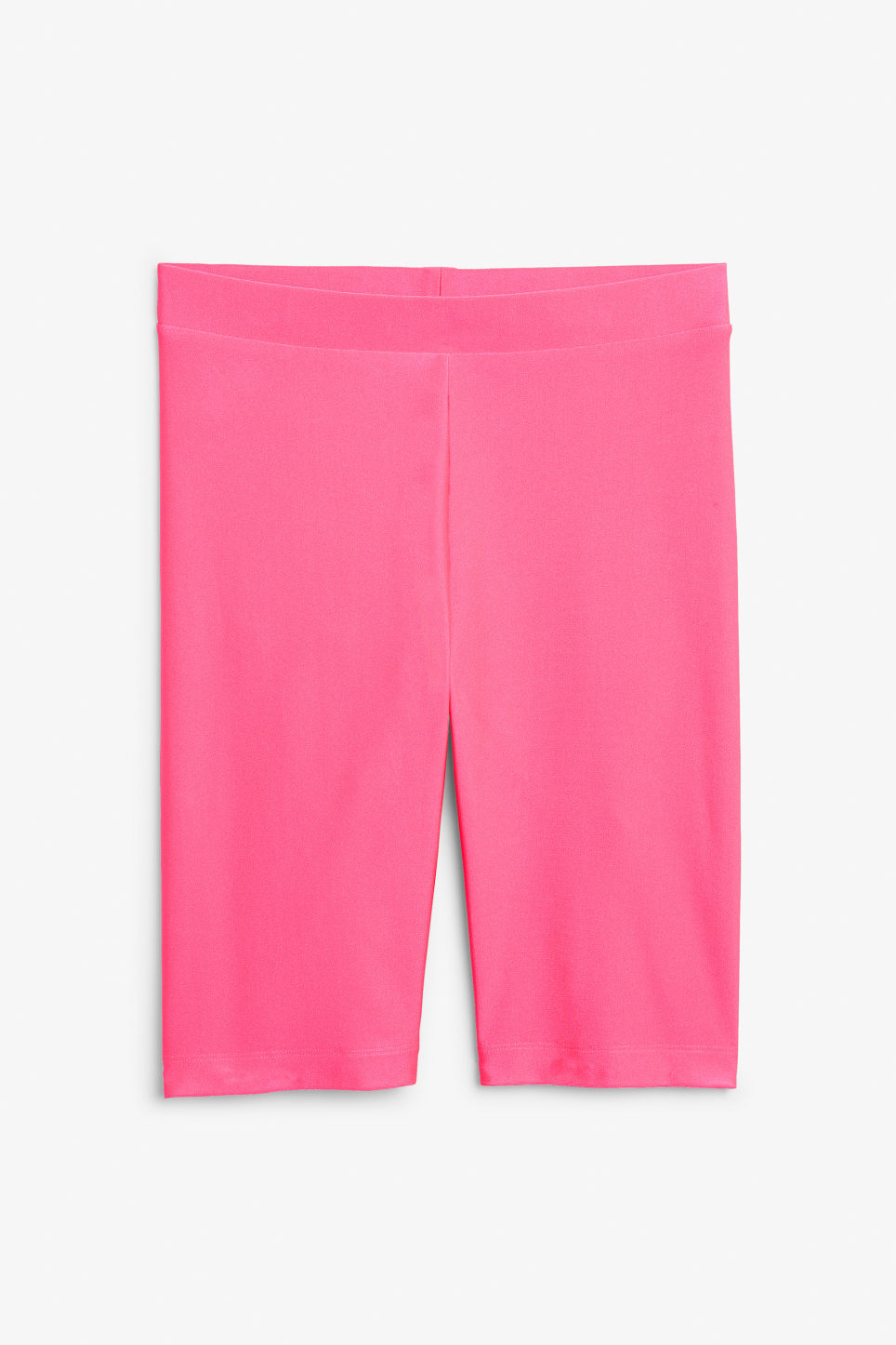 Front image of Monki bicycle shorts  in pink
