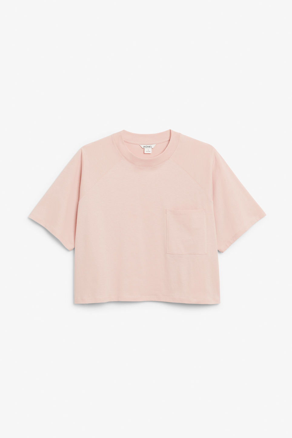 Front image of Monki cropped tee in pink