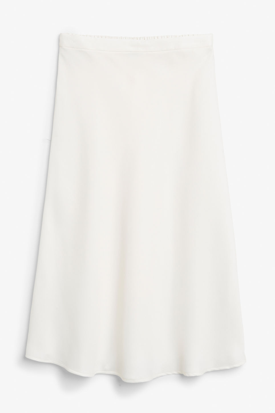Front image of Monki a-line skirt in white