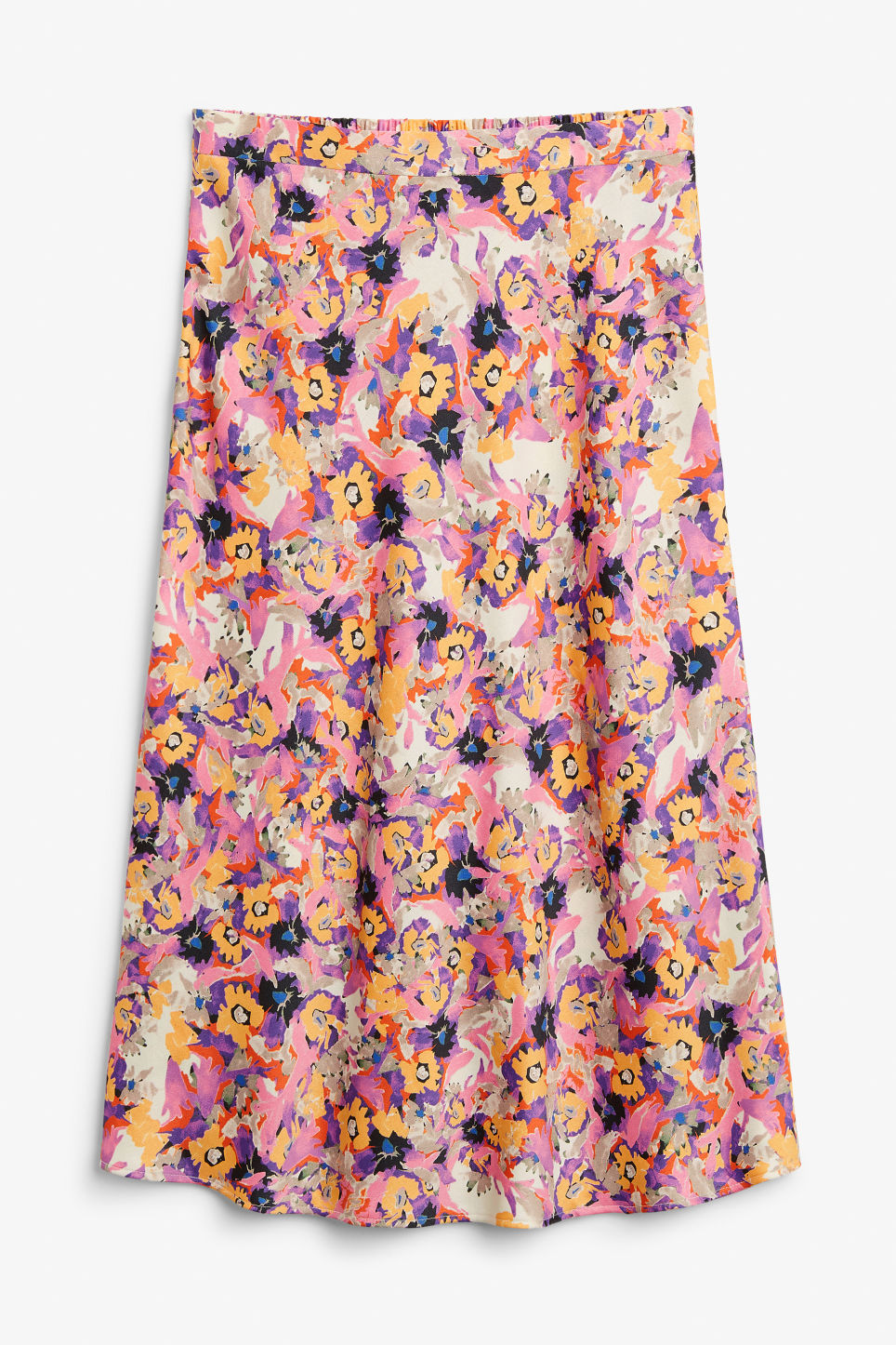Front image of Monki a-line skirt in pink