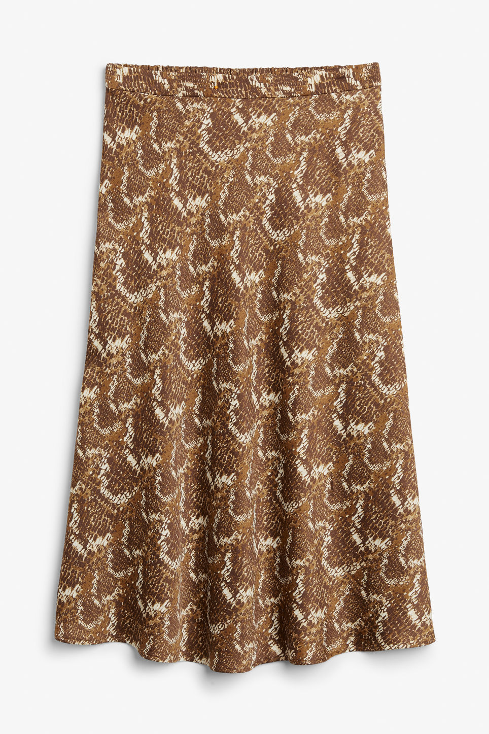 Front image of Monki a-line skirt in brown
