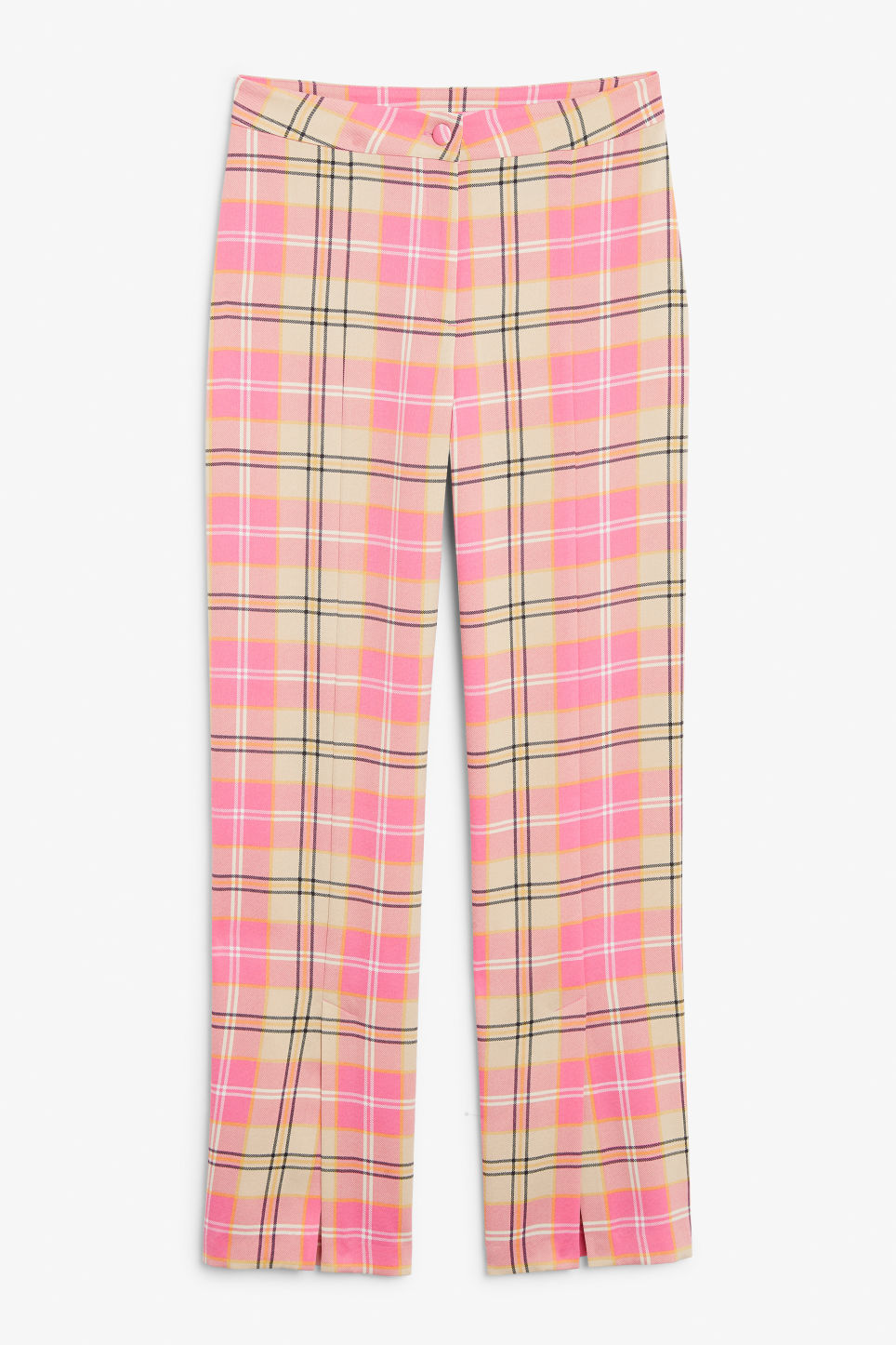 Front image of Monki dressy trousers in pink