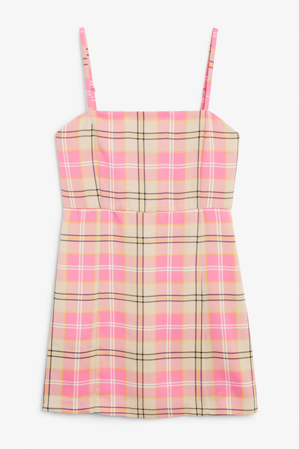 Front image of Monki spaghetti strap dress in pink