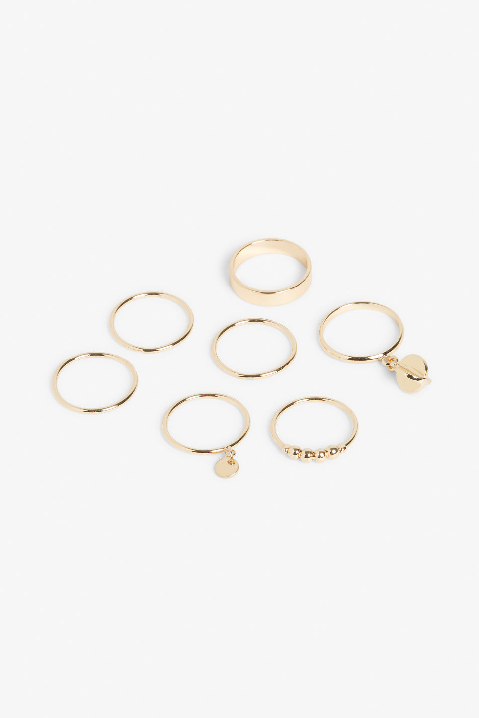 Front image of Monki gold rings  in gold