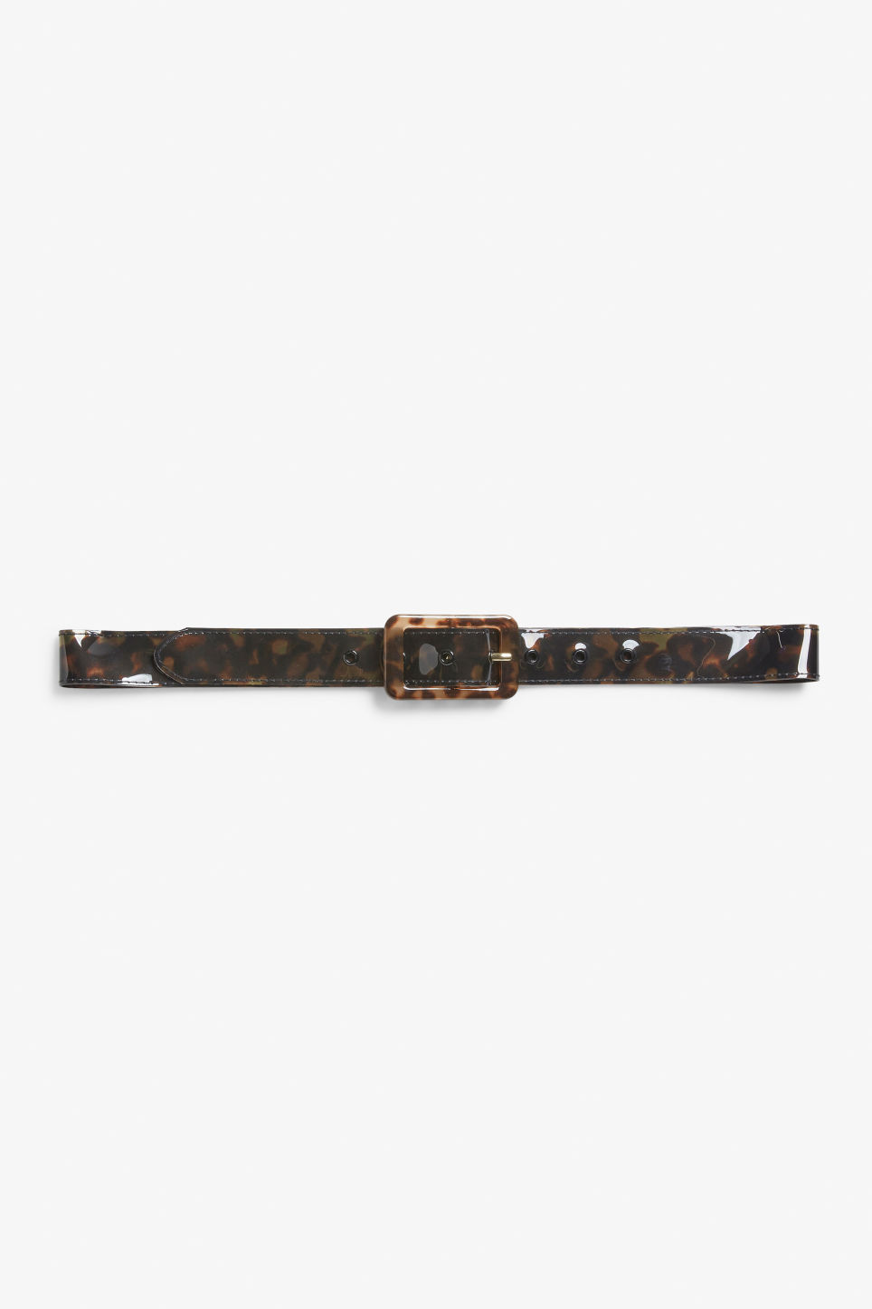 Front image of Monki patent belt in black