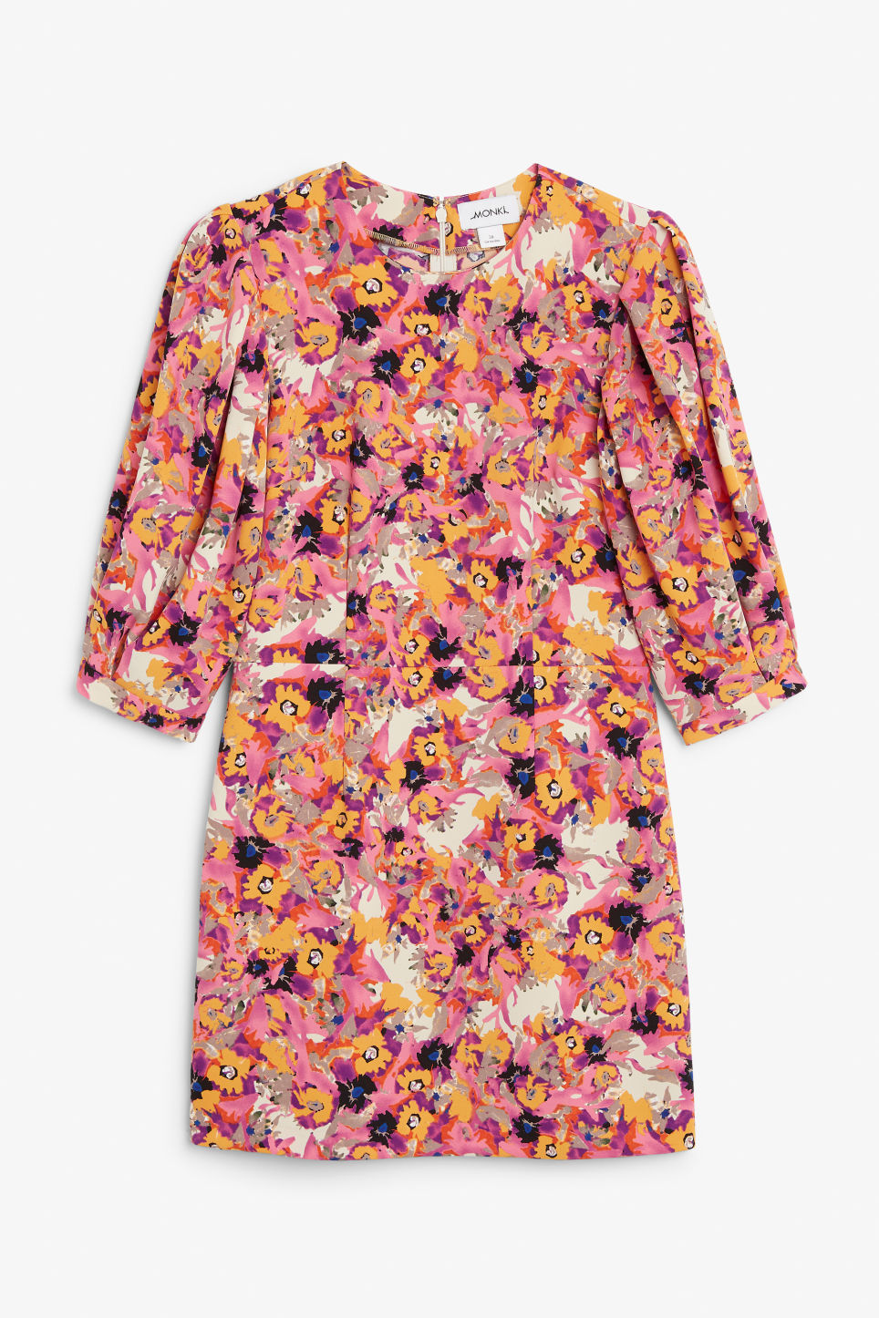 Front image of Monki fitted mini dress  in pink