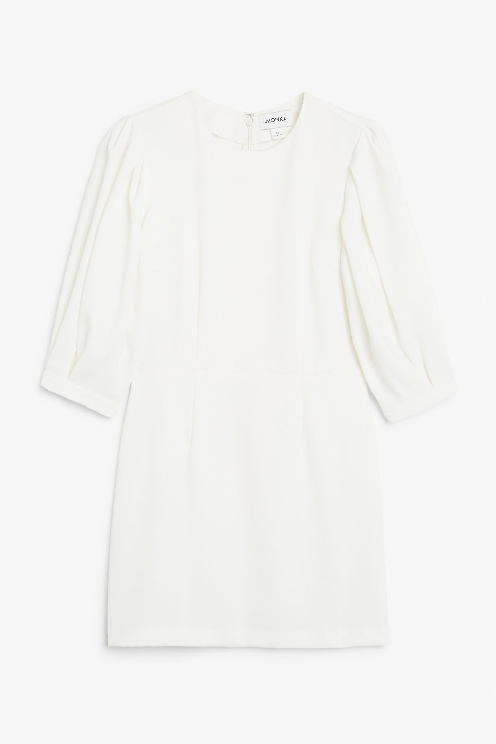 Front image of Monki fitted mini dress  in white