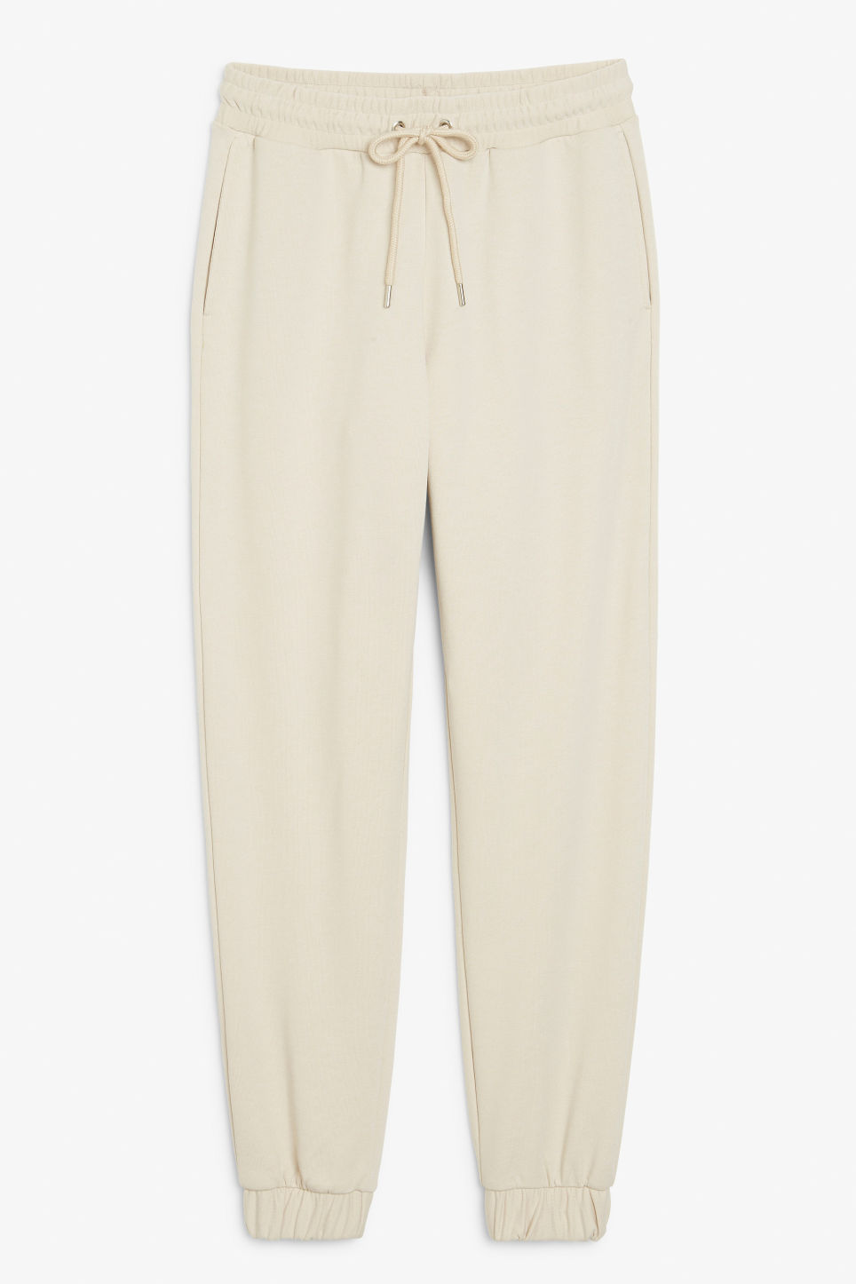 Front image of Monki sweat pants in beige
