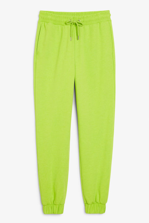 Front image of Monki sweat pants in green