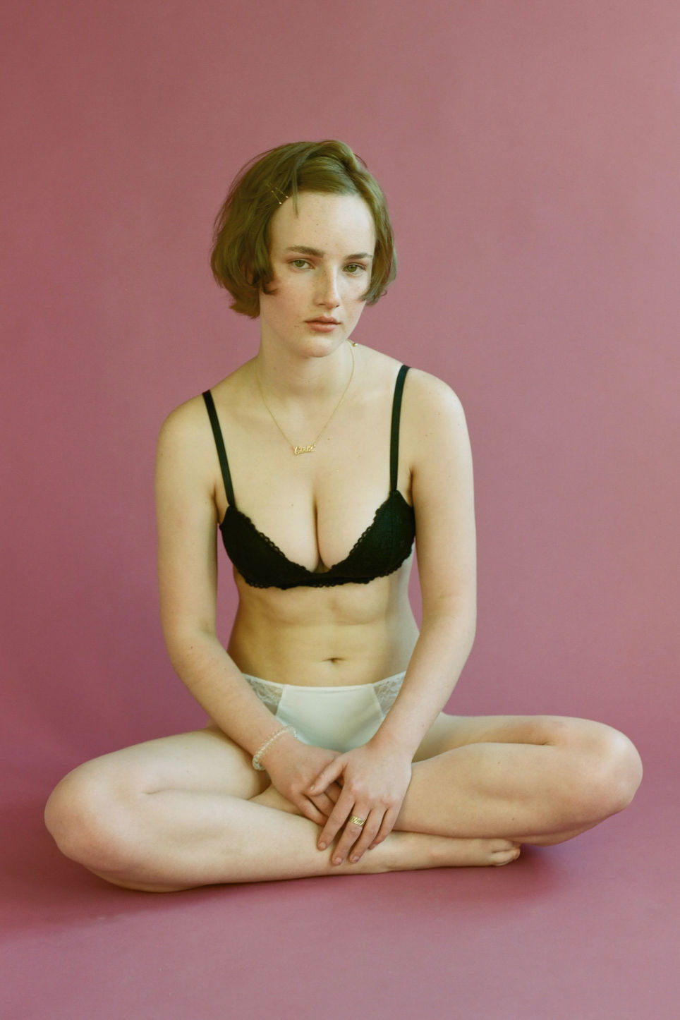 Detailed image of Monki padded bra in black