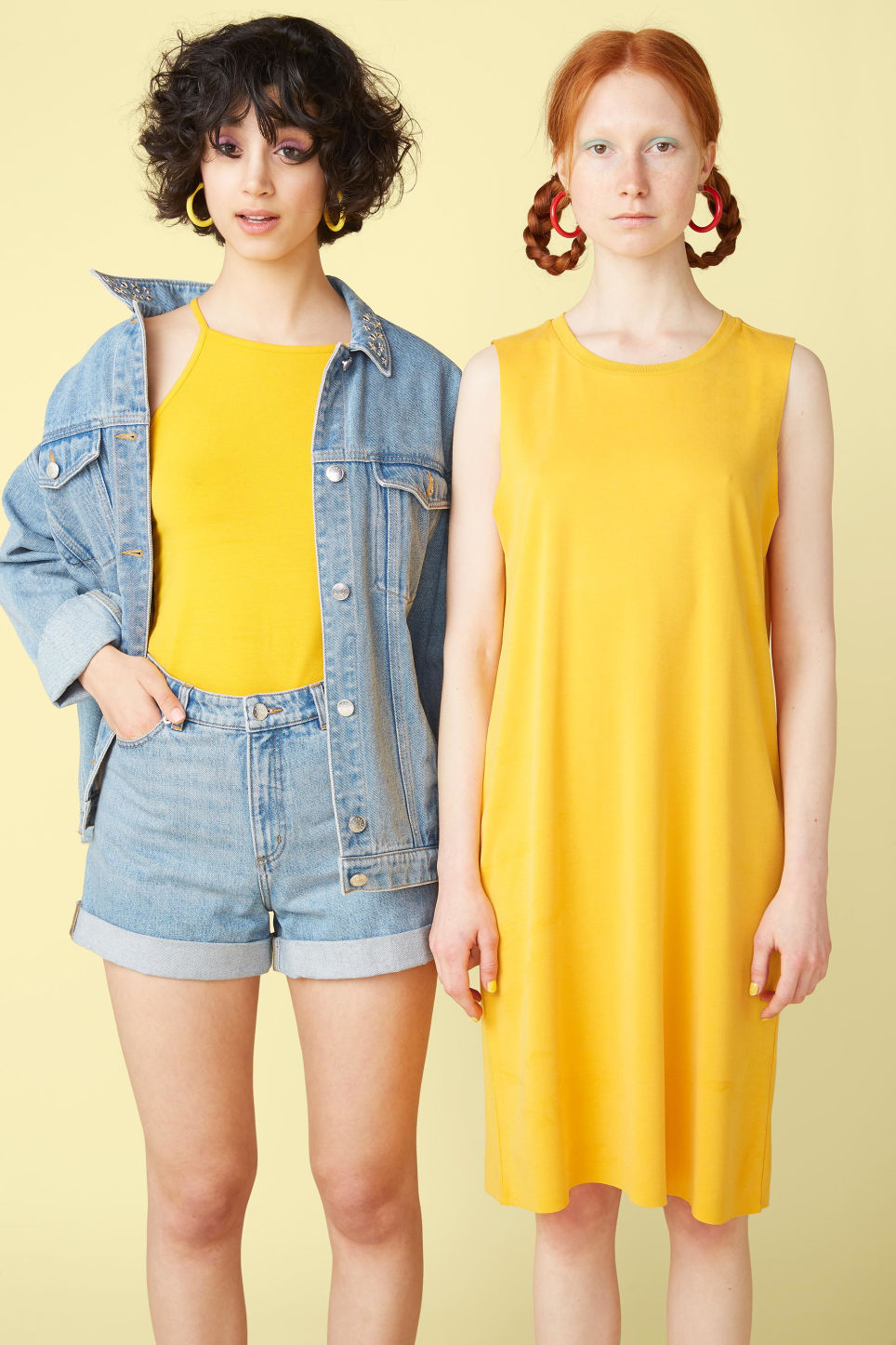 Detailed image of Monki super-soft dress in yellow
