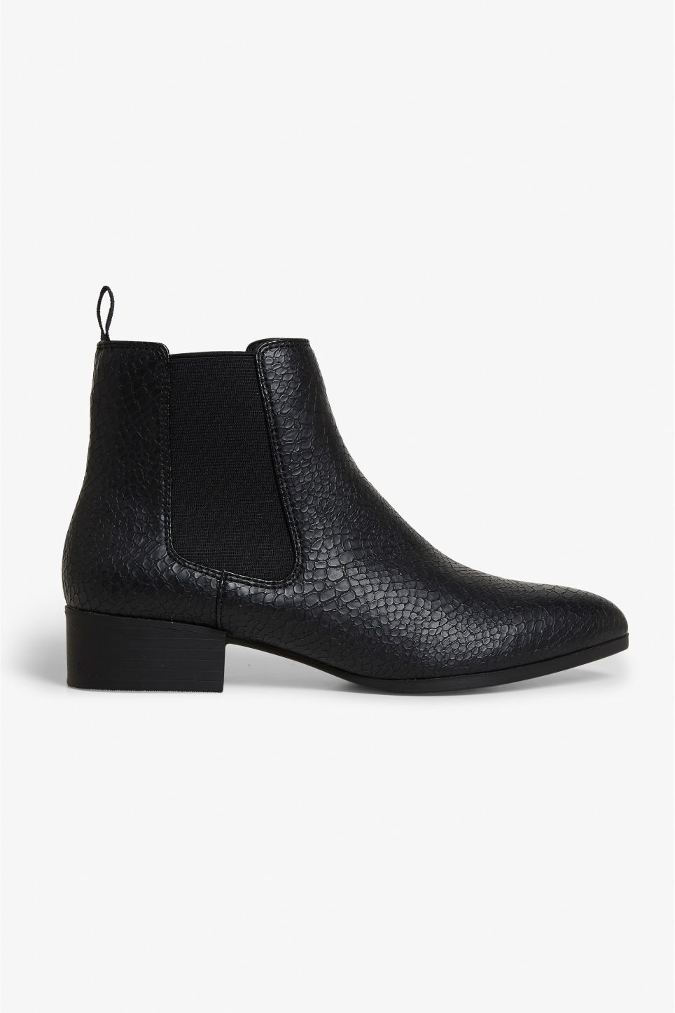 Detailed image of Monki chelsea ankle boots in black