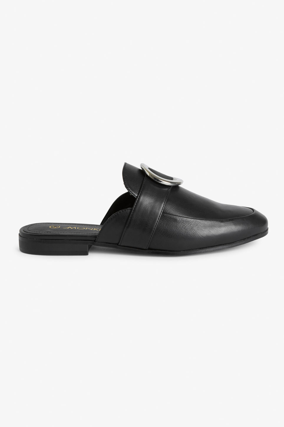 Detailed image of Monki loafer mules in black