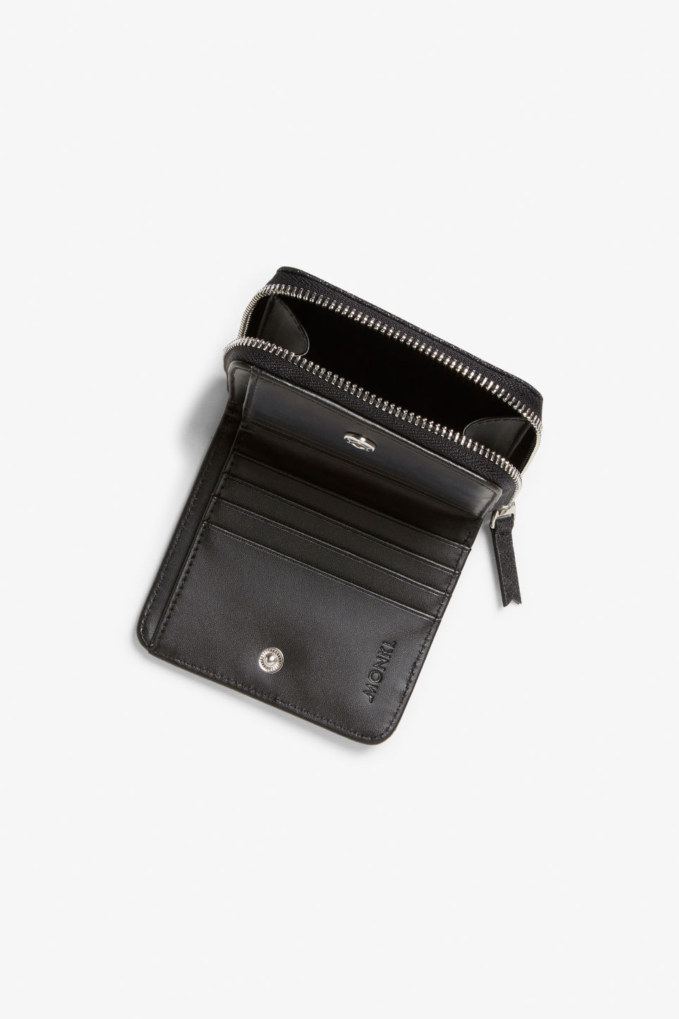 Detailed image of Monki coin purse wallet in black