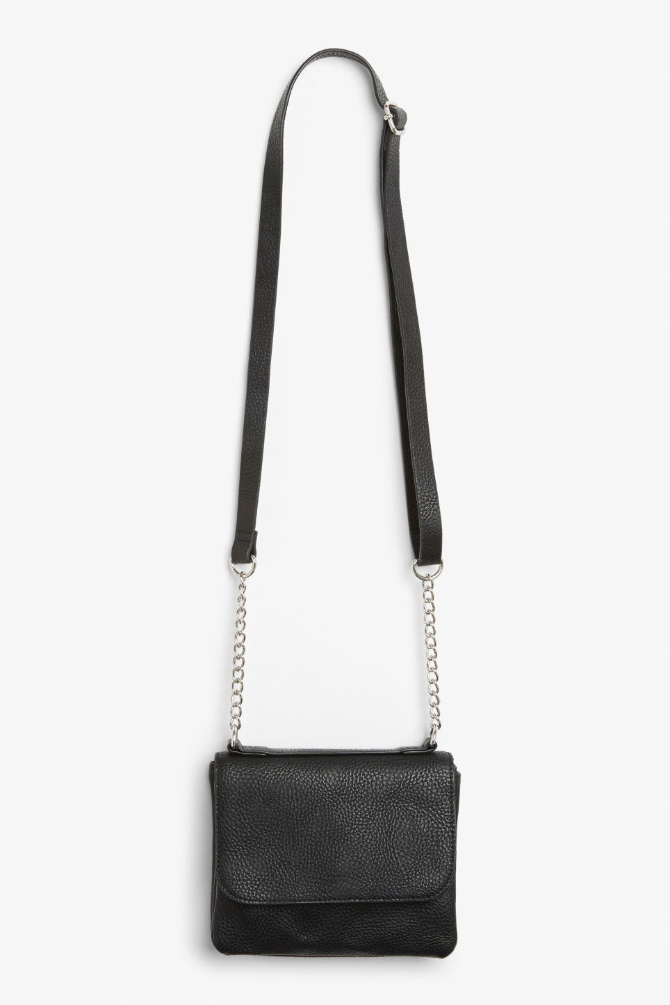 Detailed image of Monki cross shoulder bag in black