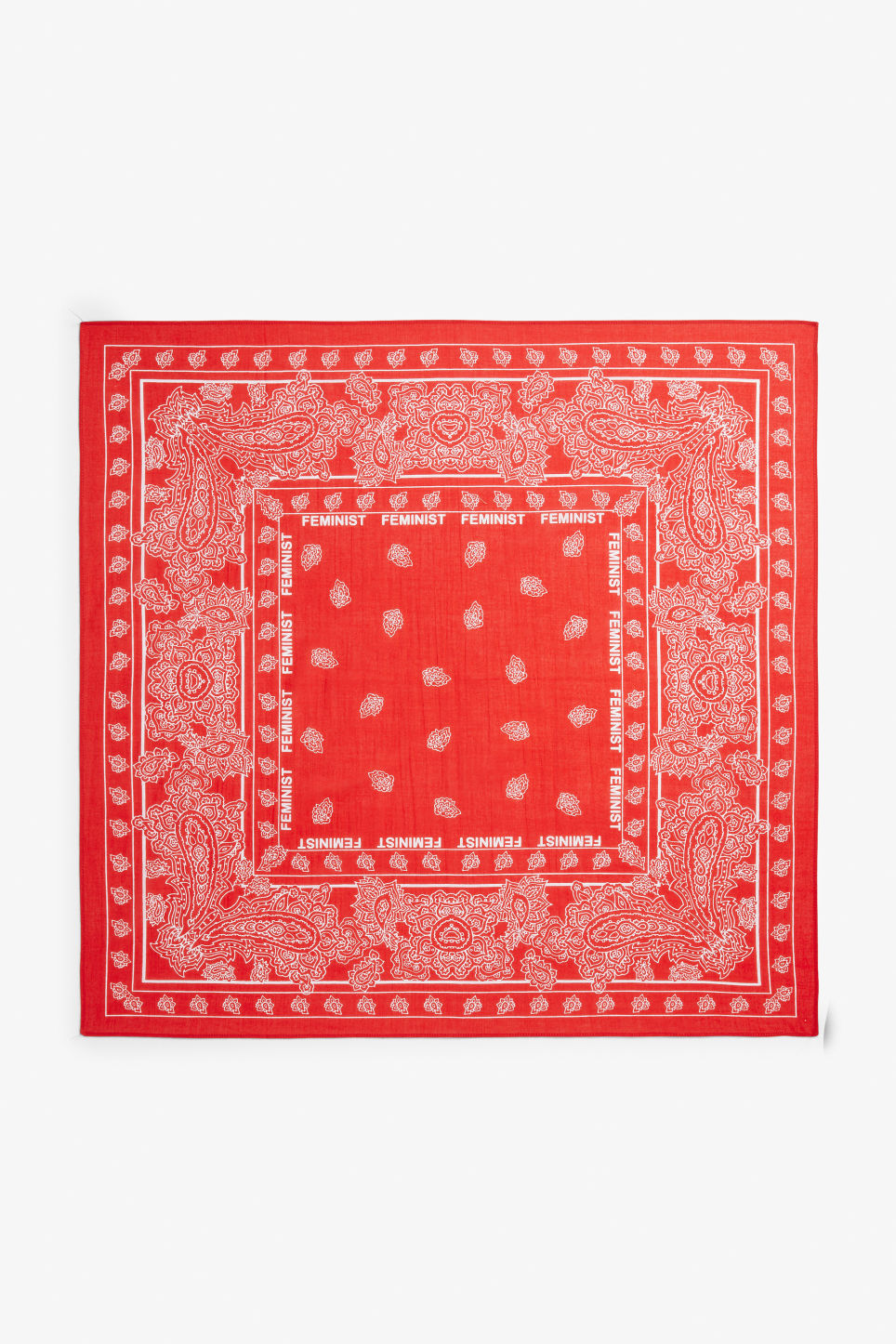 Detailed image of Monki statement scarf in red