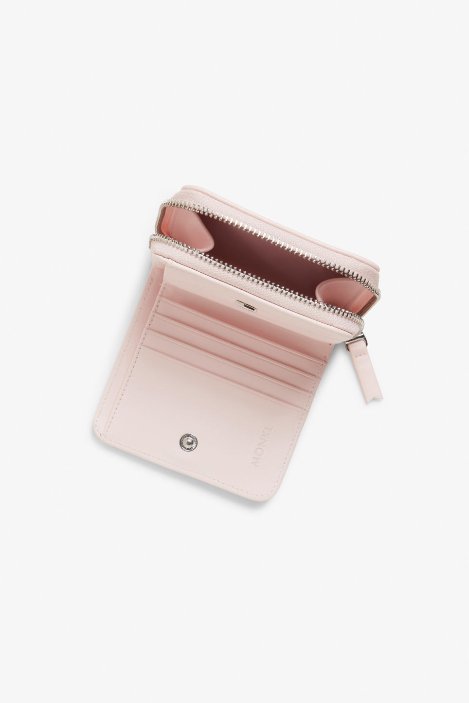 Detailed image of Monki coin purse wallet in pink