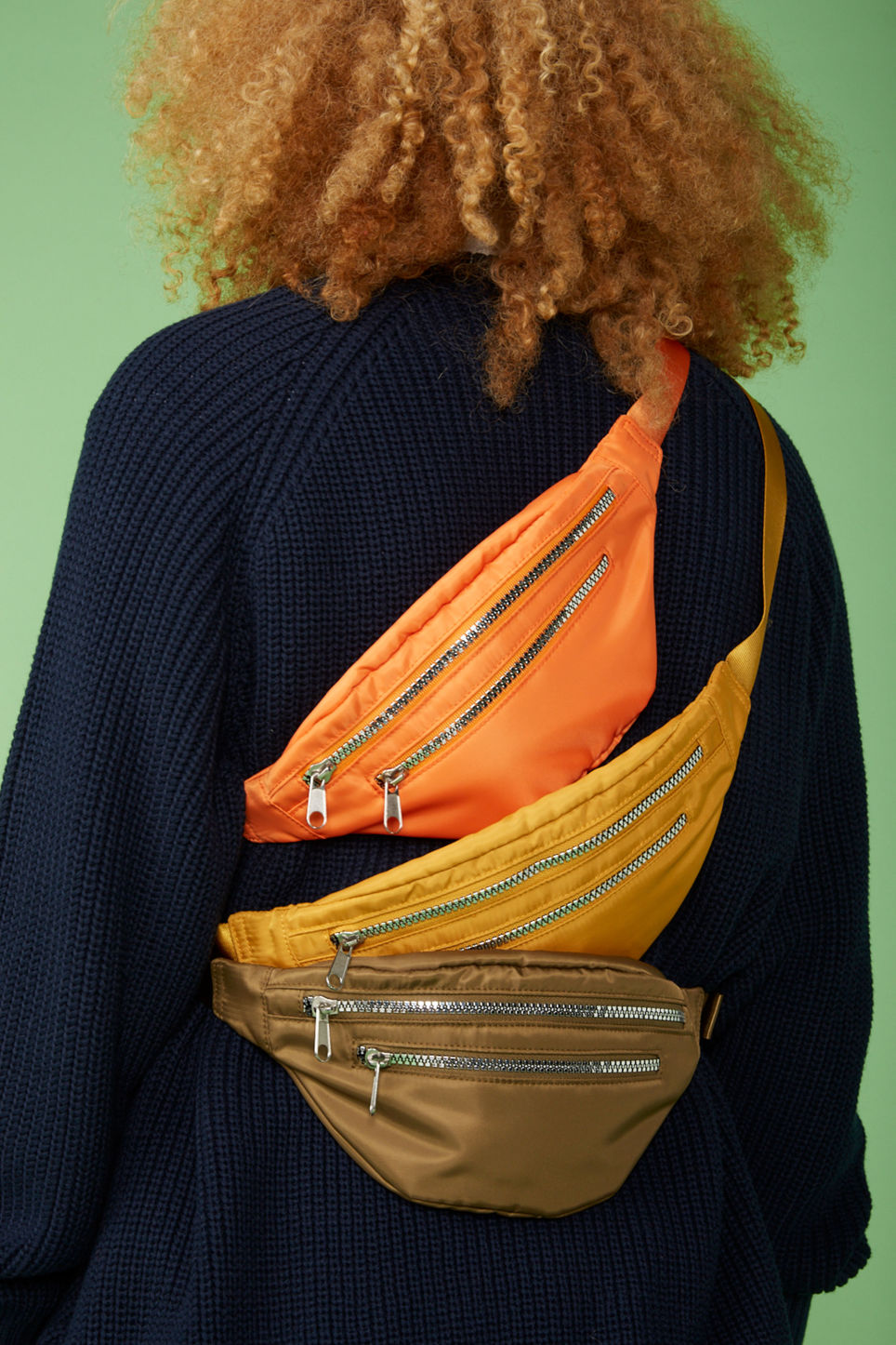Detailed image of Monki fanny pack in orange
