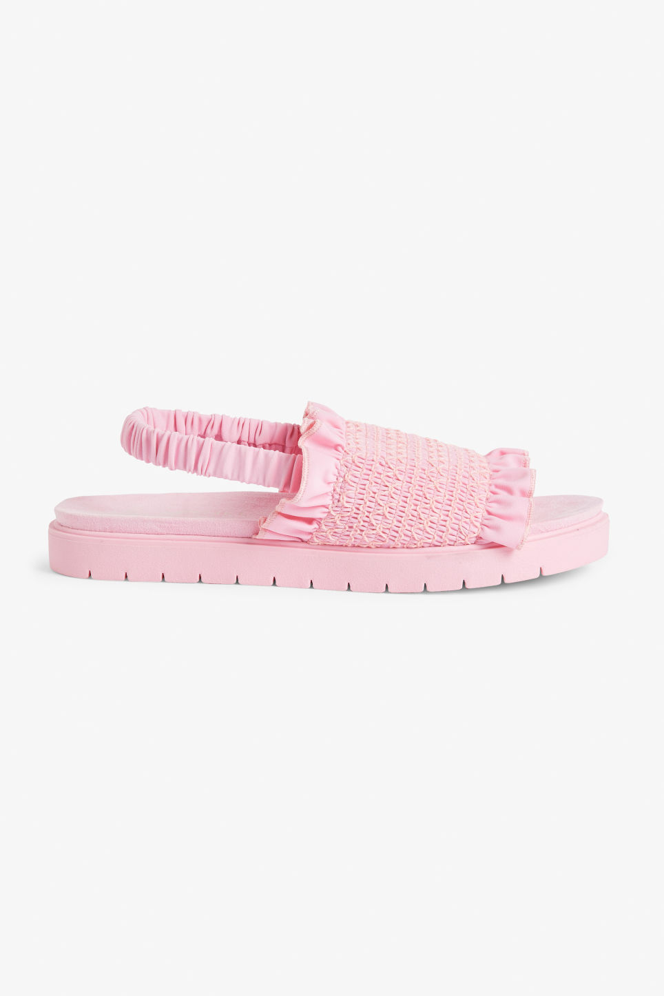 Detailed image of Monki slingback sandals in pink