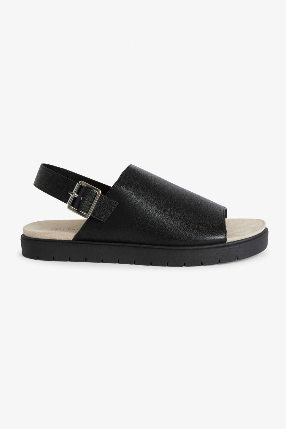 Detailed image of Monki slingback sandals in black