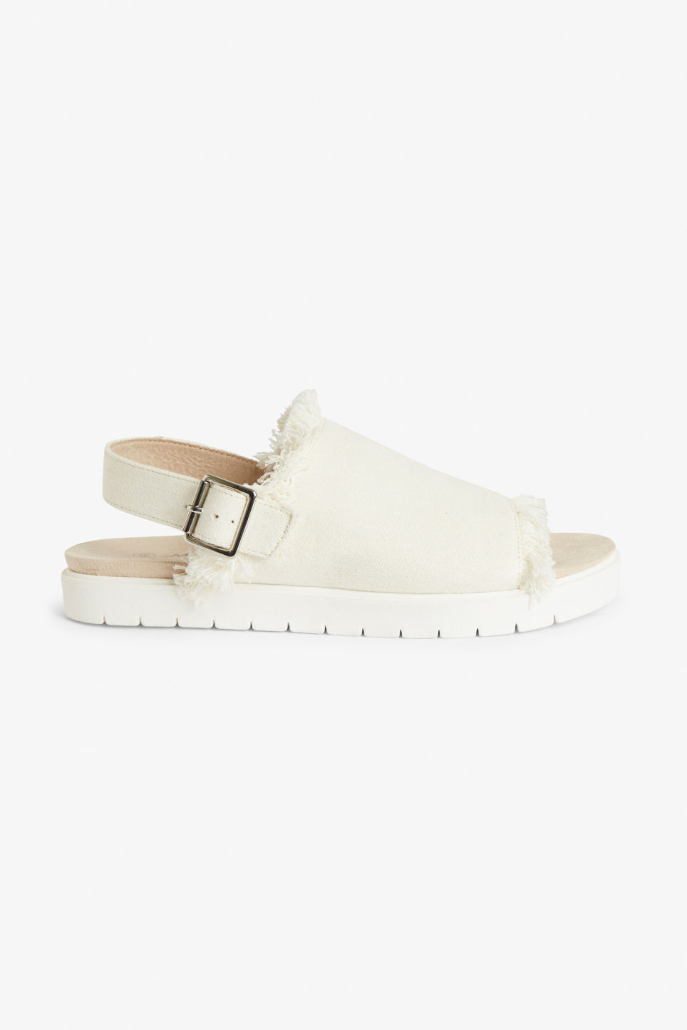 Detailed image of Monki slingback sandals in white