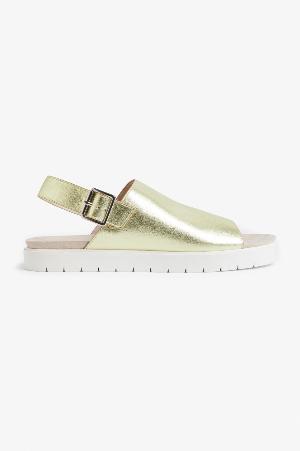 Detailed image of Monki slingback sandals in gold