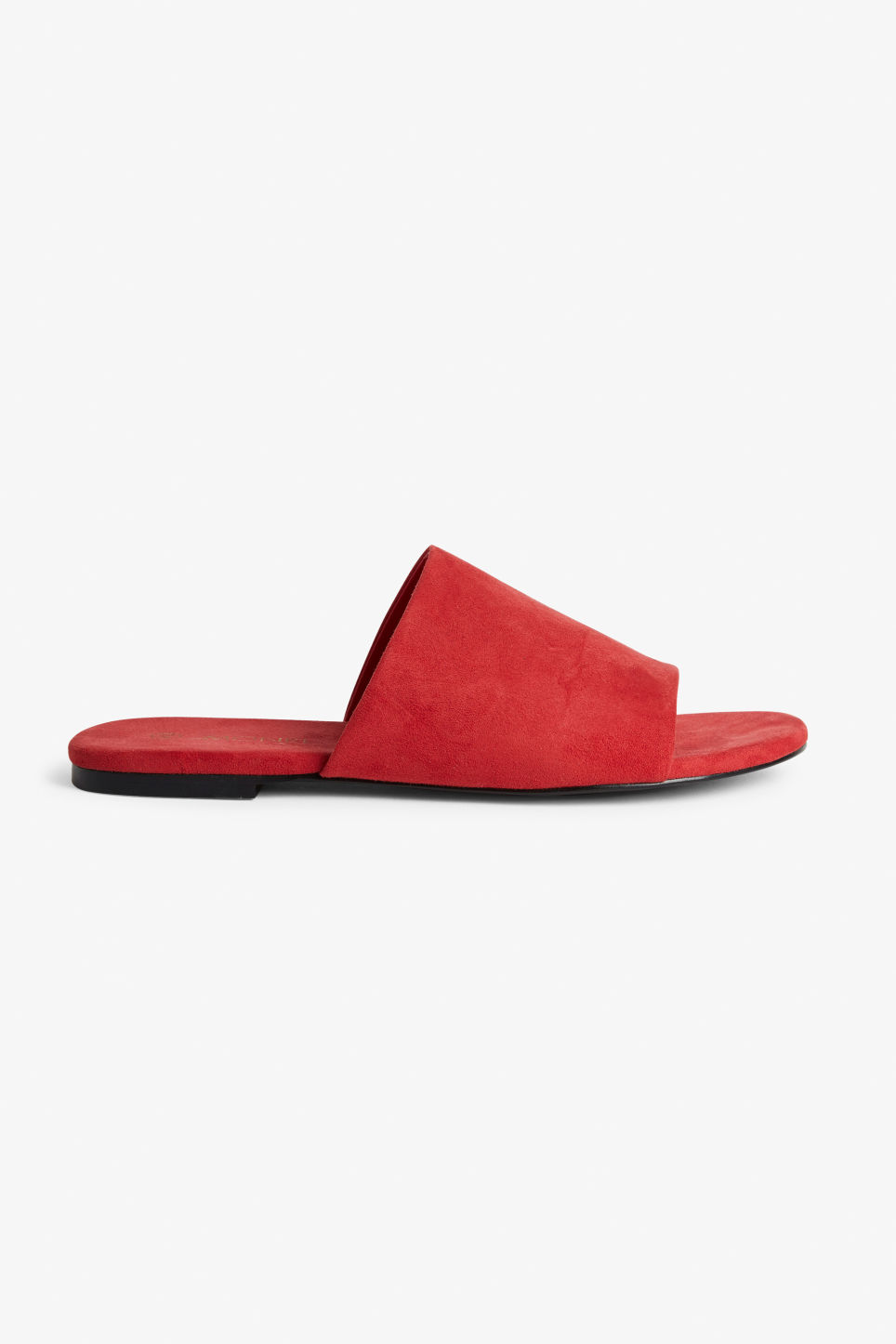 Detailed image of Monki slippers in red