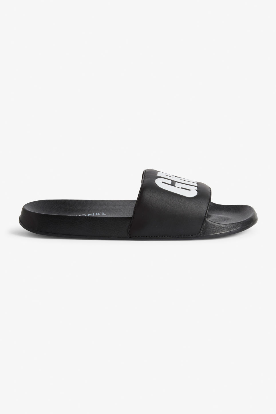 Detailed image of Monki beach sandals in black