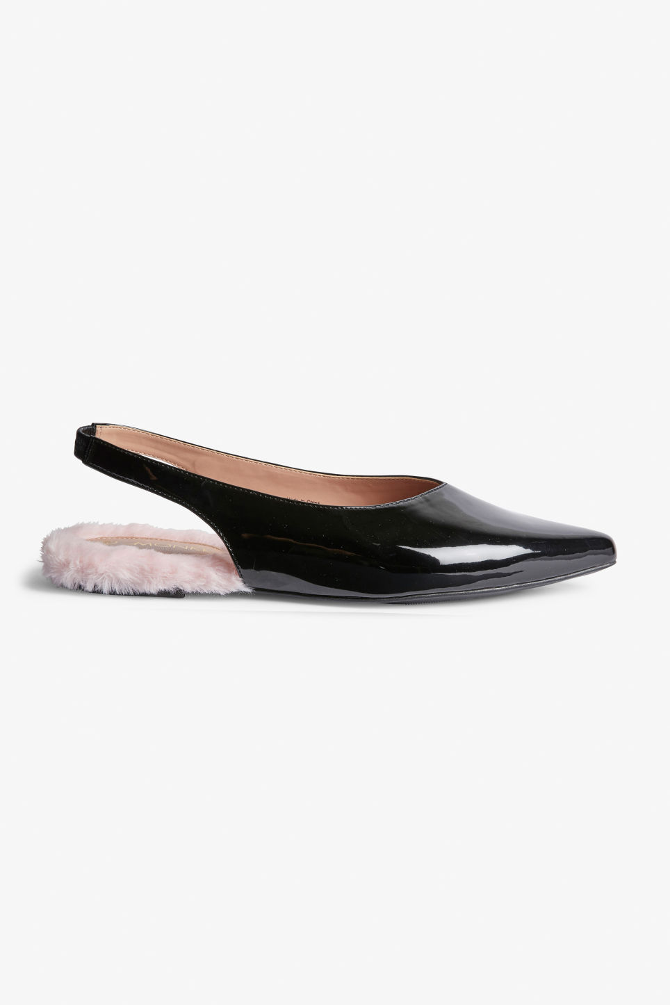 Detailed image of Monki slingback flats in black
