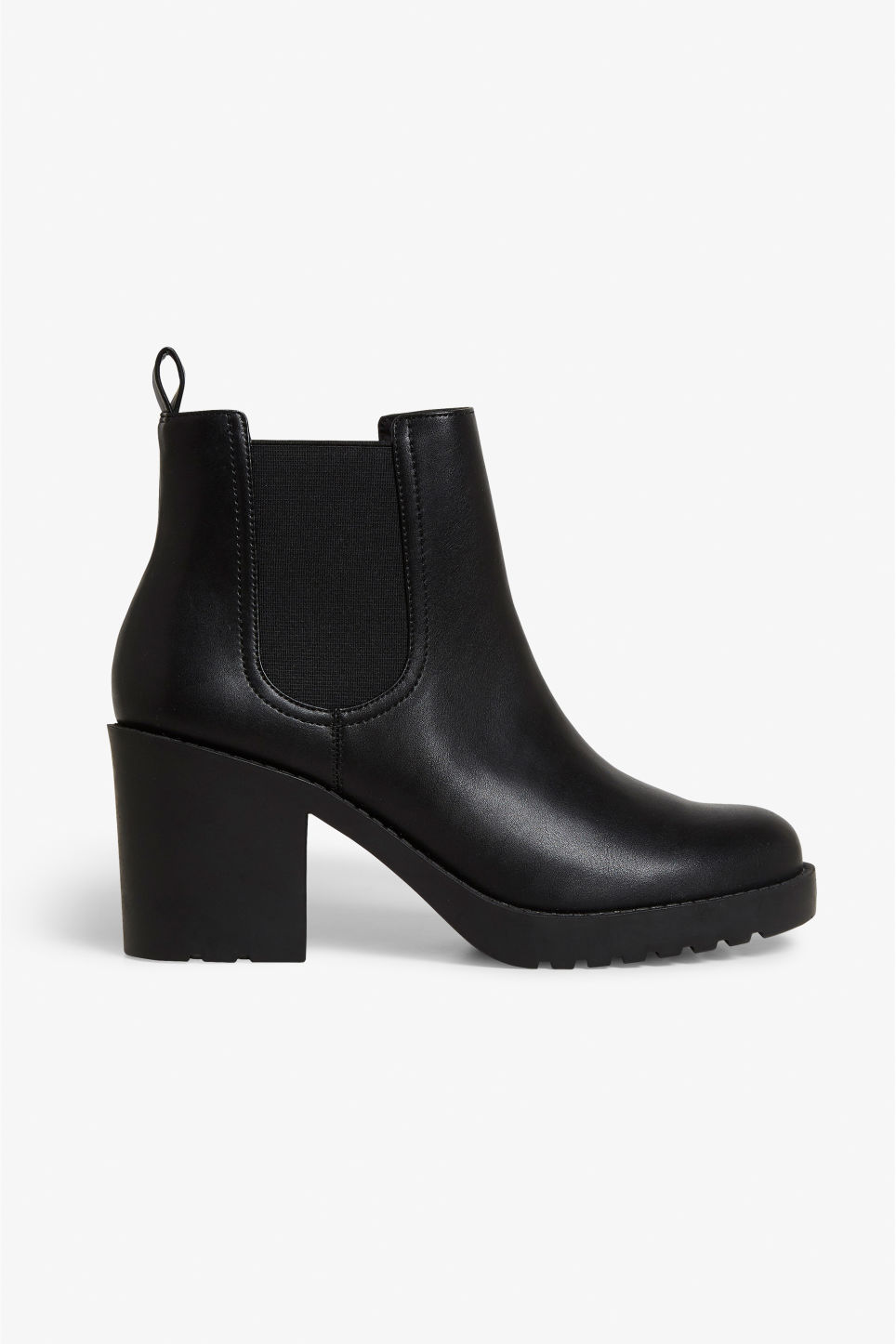 Detailed image of Monki stretchy ankle boots in black