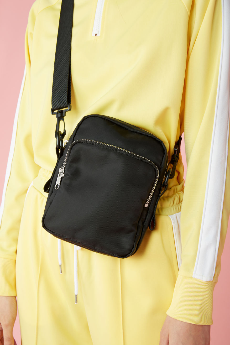 Detailed image of Monki utility style bag in black