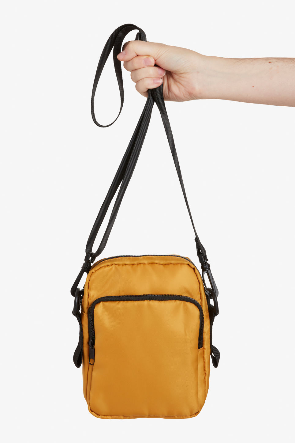 Detailed image of Monki utility style bag in yellow