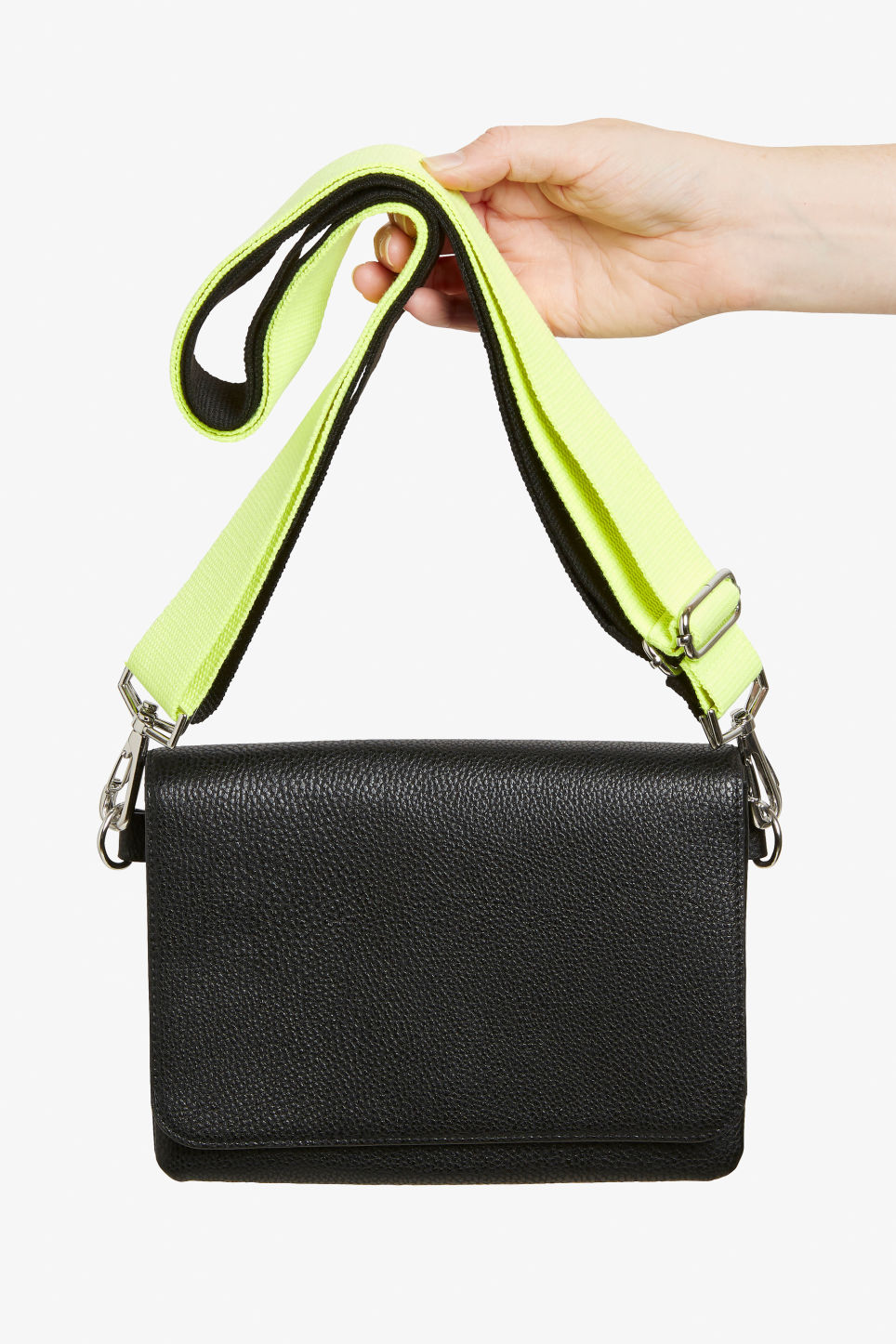 Detailed image of Monki fluffy shoulder bag in black