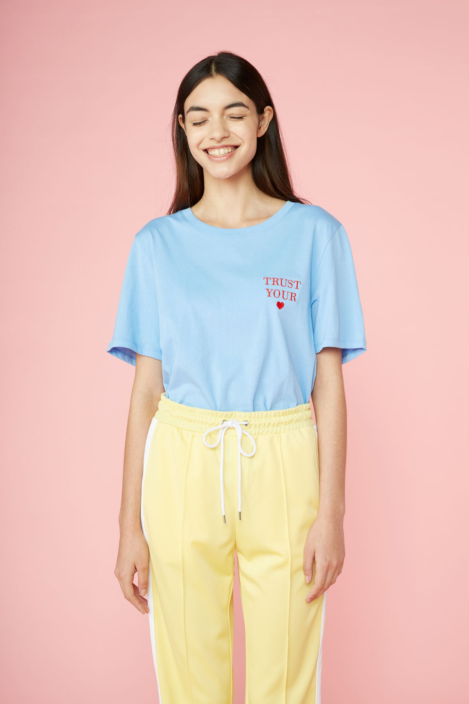 Detailed image of Monki soft tee in blue