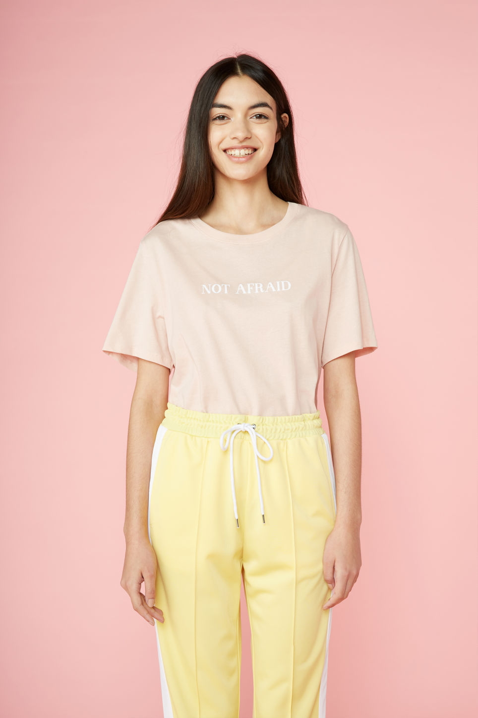Detailed image of Monki soft tee in orange