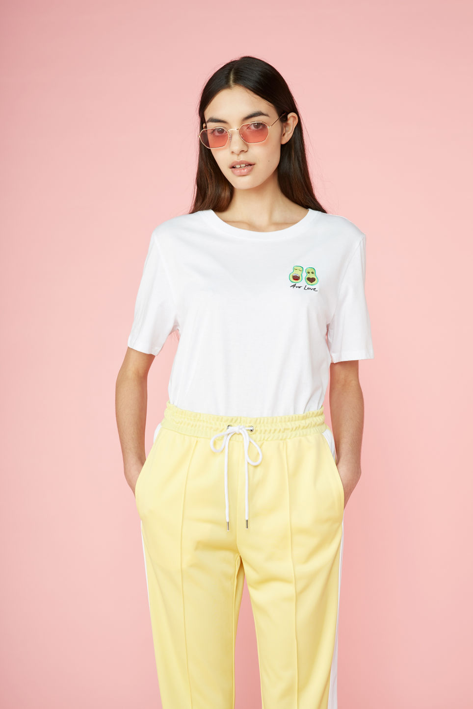 Detailed image of Monki soft tee in white