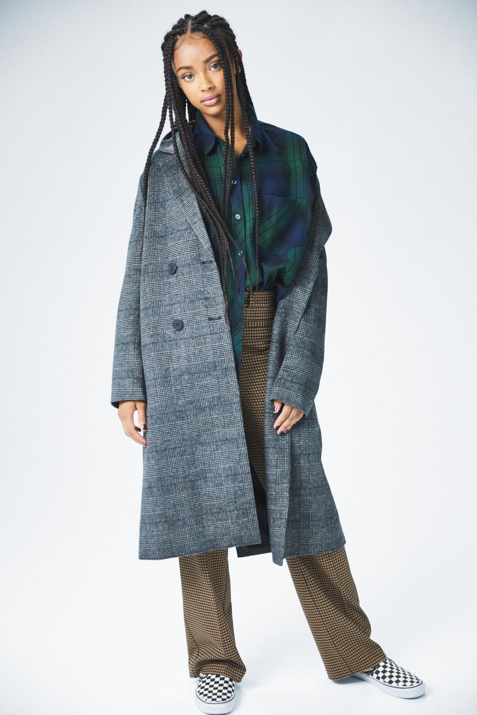 Detailed image of Monki classic coat in grey