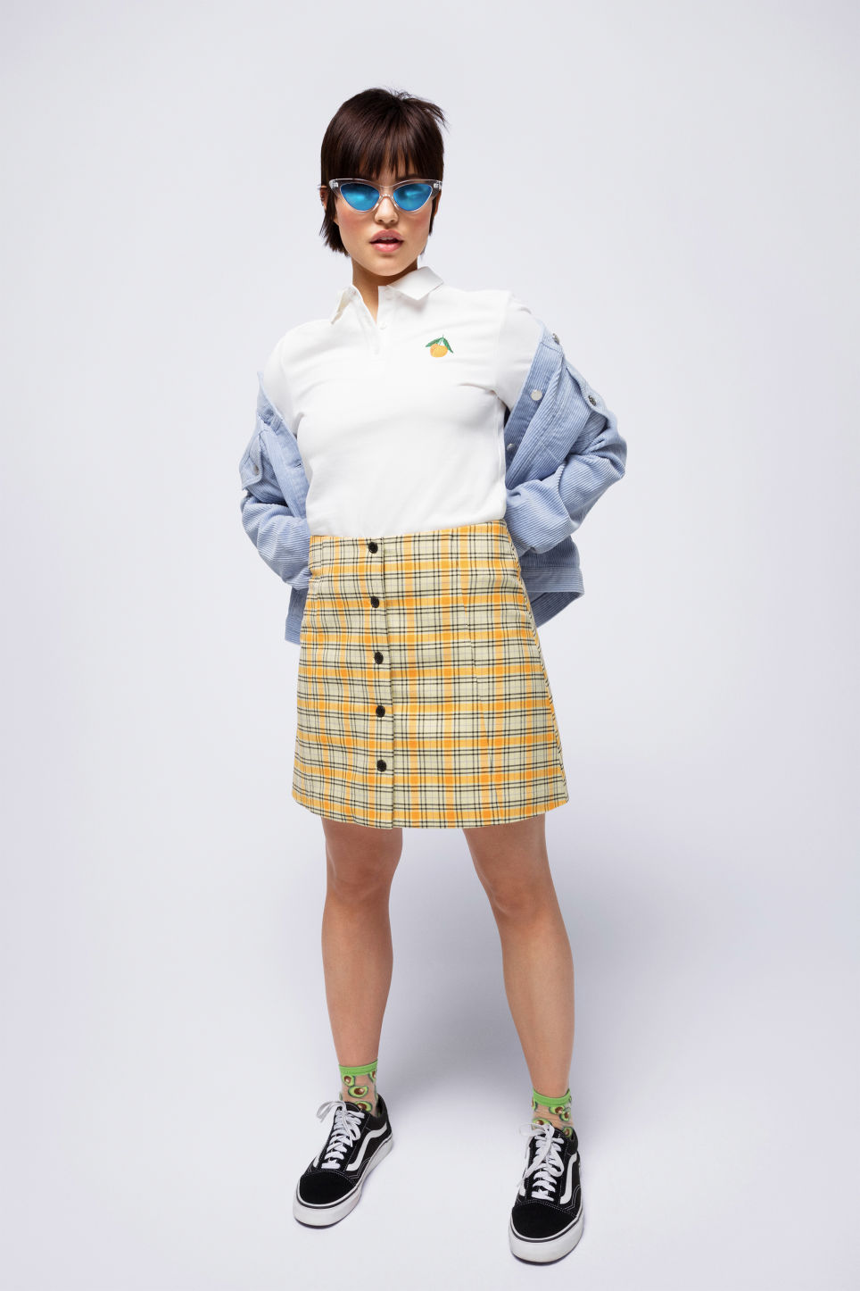 Detailed image of Monki short jacket in blue