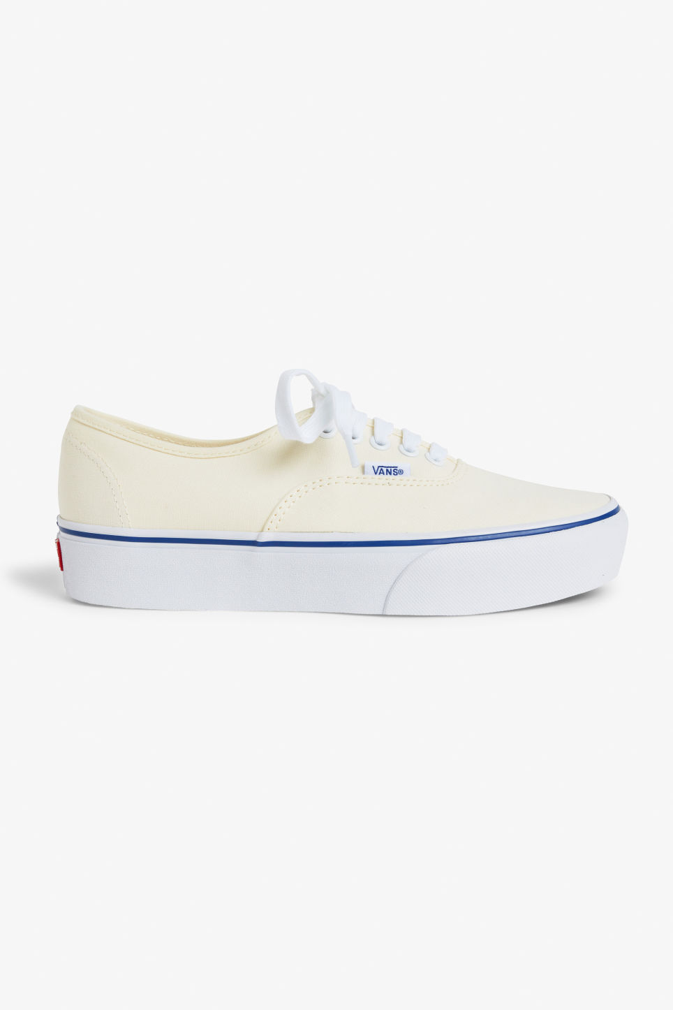 Detailed image of Monki vans authentic platforms 2.0 in white