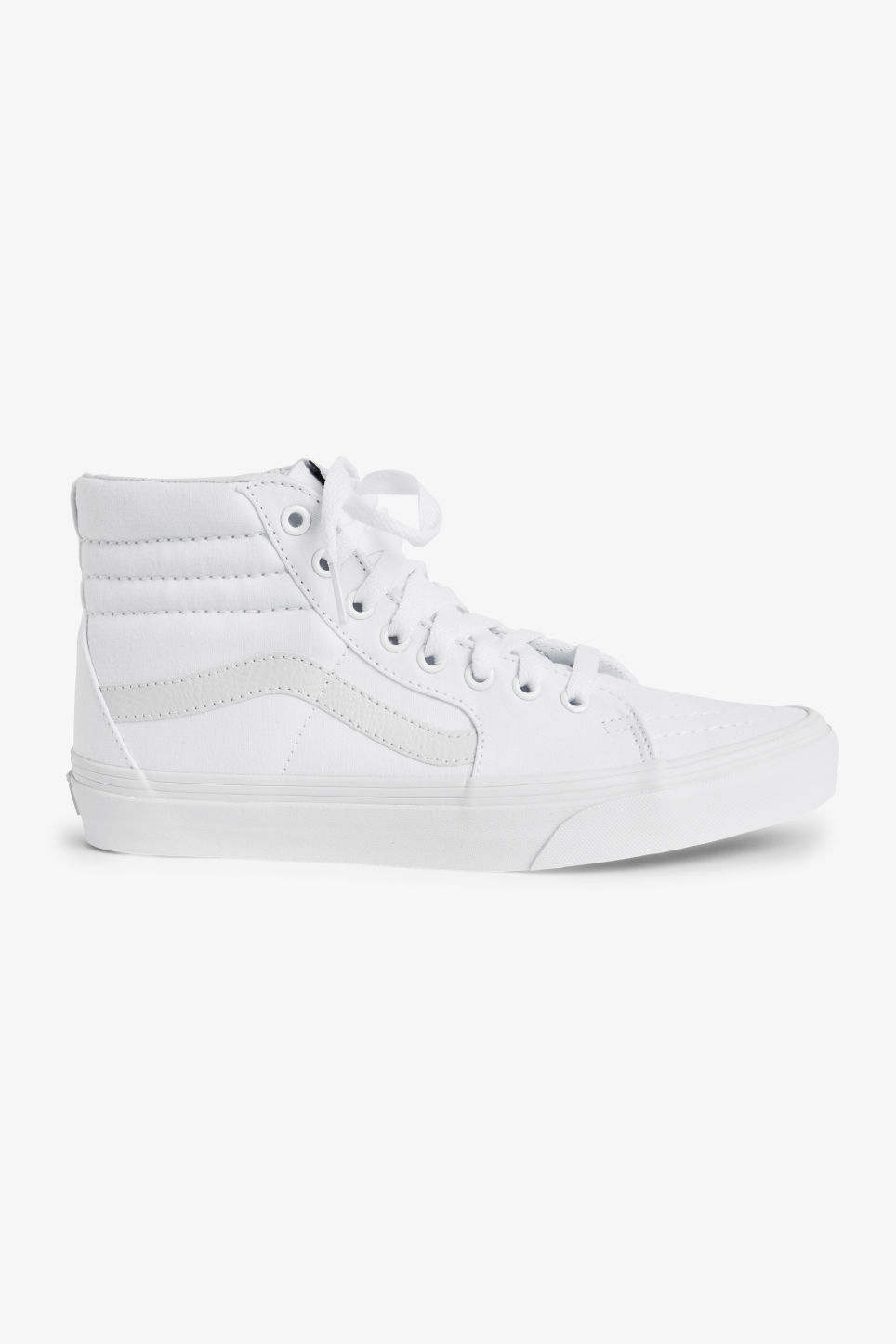 Detailed image of Monki vans sk8 hi in white