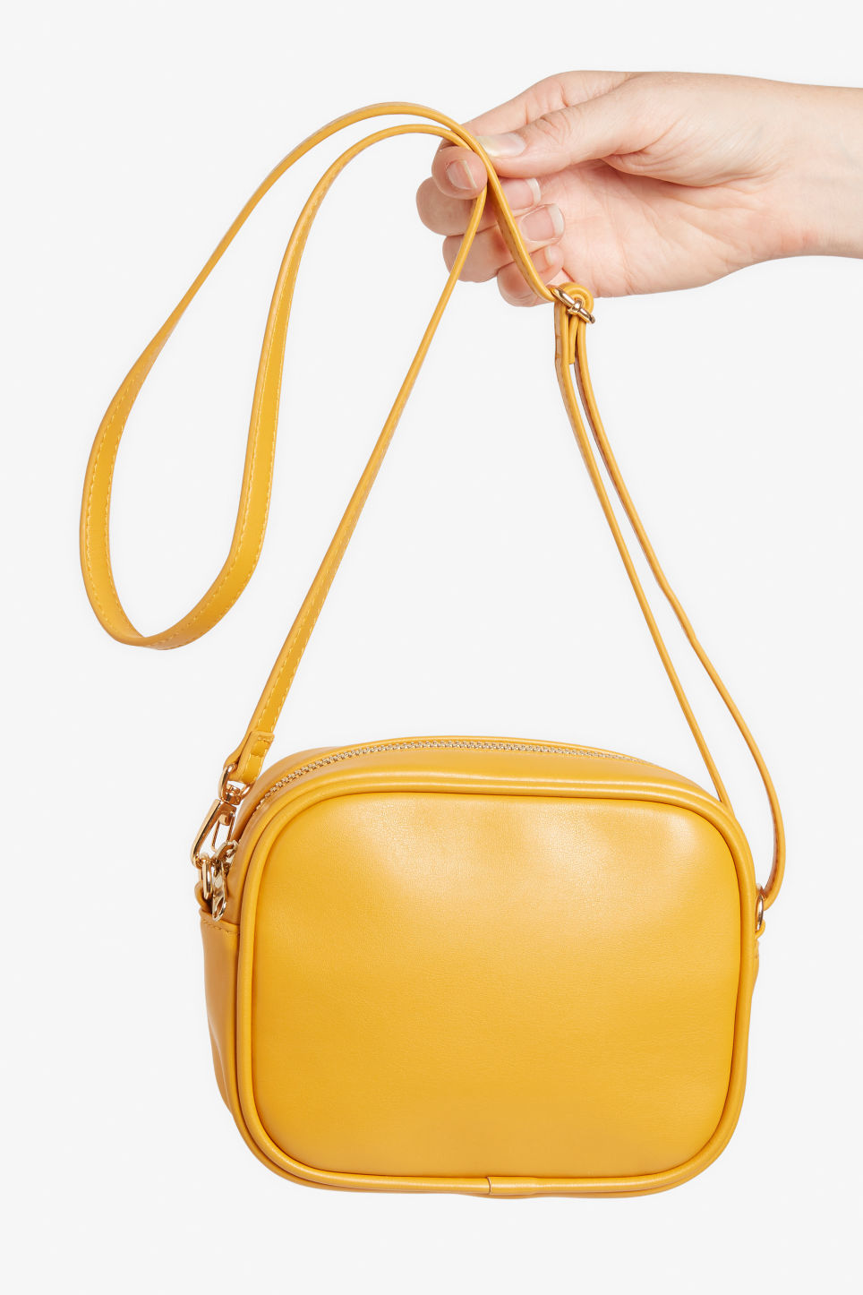 Detailed image of Monki cross shoulder bag in yellow