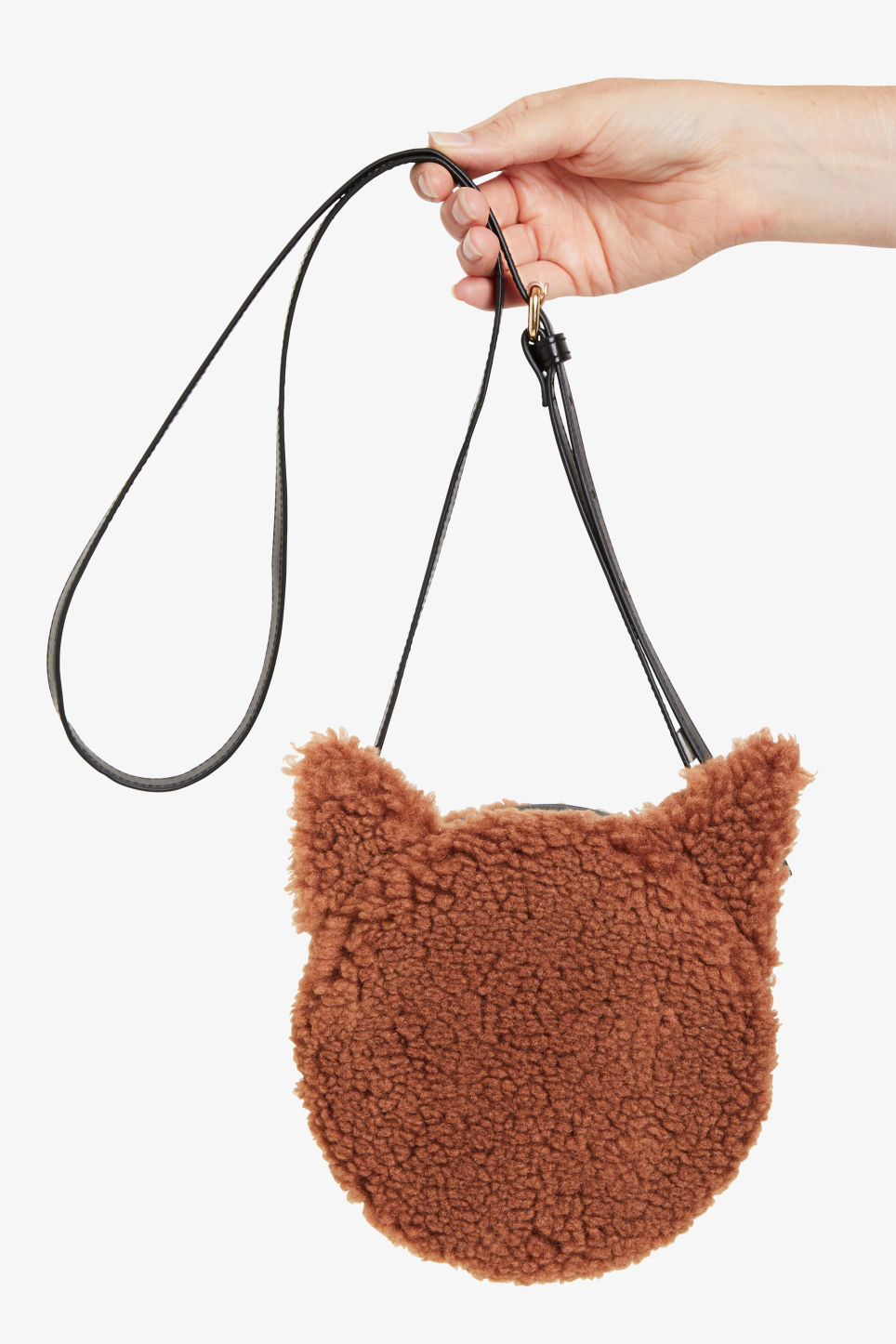 Detailed image of Monki cross shoulder cat bag in beige