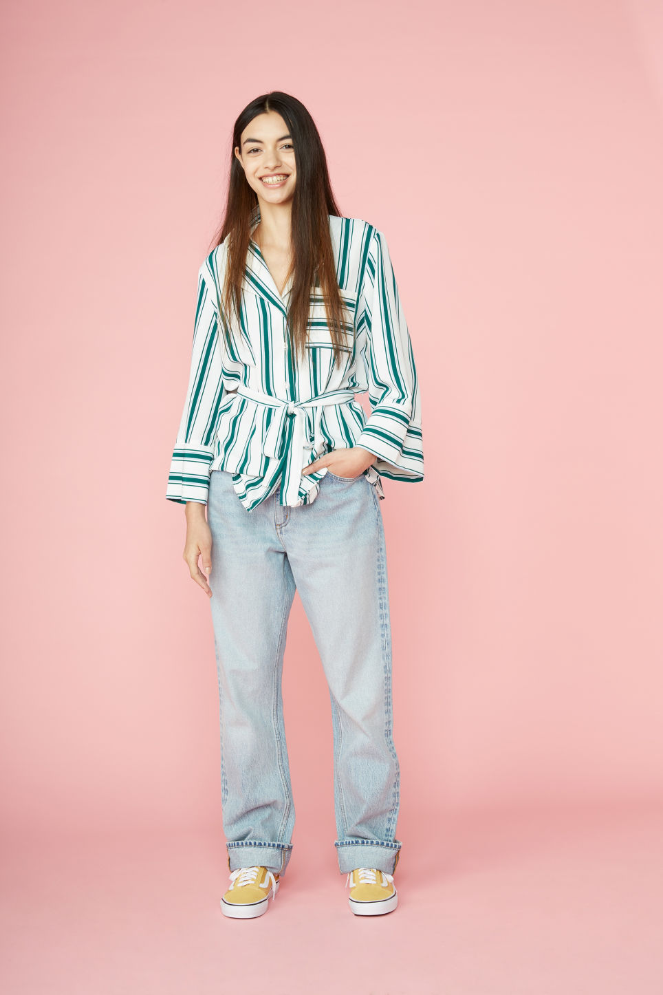 Detailed image of Monki kyo light blue in blue