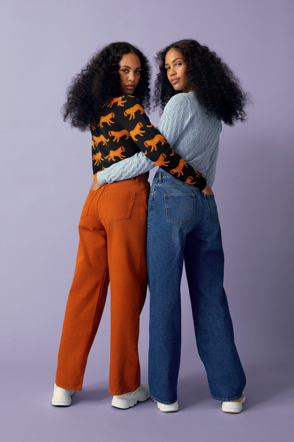 Detailed image of Monki yoko dark mustard jeans in orange