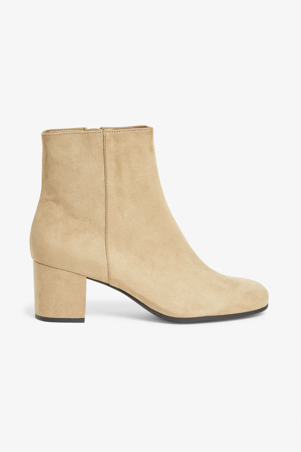 Detailed image of Monki classic ankle boots in beige